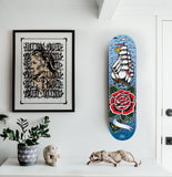 Personalised 'Sail Away' Skateboard by Steen Jones printed by Few and Far Studio for Few and Far Co.