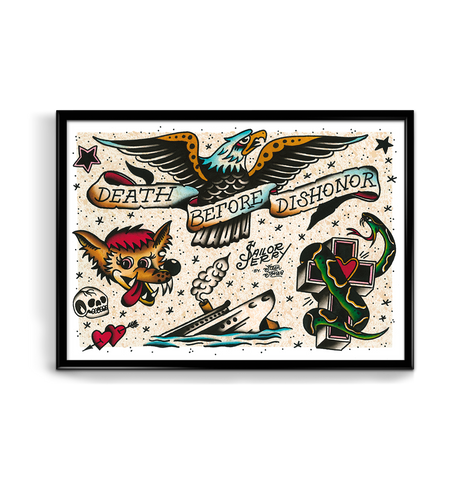 'SJ Flash Sheet 3' Fine Art Giclee print by Steen Jones printed by Few and Far Studio for Few and Far Co.