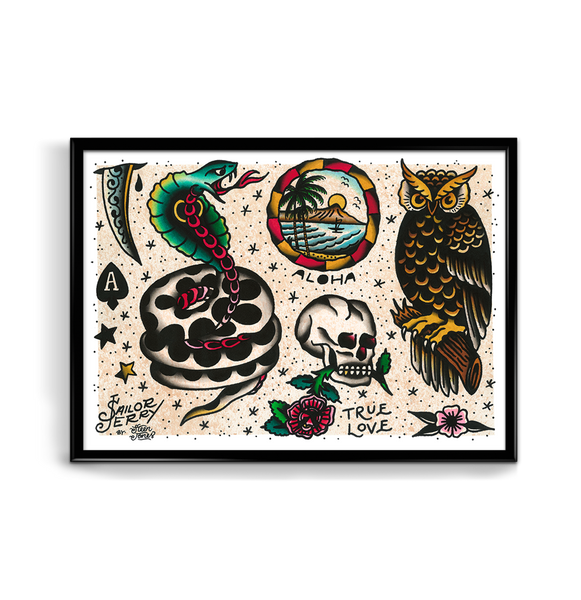 'SJ Flash Sheet 6' Fine Art Giclee print by Steen Jones printed by Few and Far Studio for Few and Far Co.