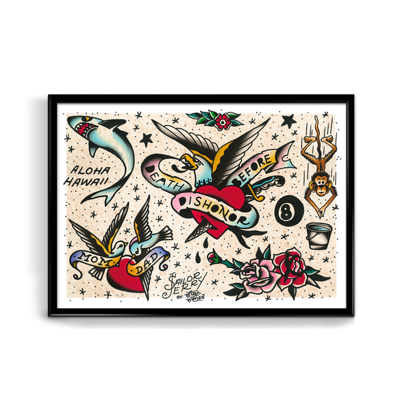 'SJ Flash Sheet 8' Fine Art Giclee print by Steen Jones printed by Few and Far Studio for Few and Far Co.