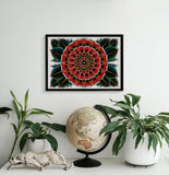 'Geo Flower' Fine Art Giclee print by Steen Jones printed by Few and Far Studio for Few and Far Co.