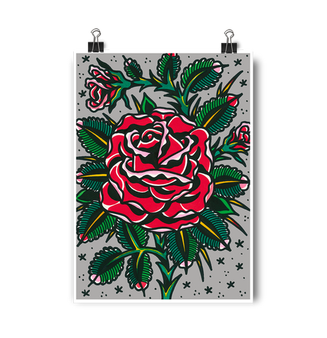 'Melinda's Rose' Digital print by Steen Jones printed by Few and Far Studio for Few and Far Co.