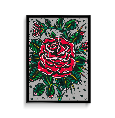 'Melinda's Rose' Fine Art Giclee print by Steen Jones printed by Few and Far Studio for Few and Far Co.