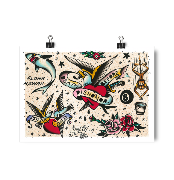 'SJ Flash Sheet 8' Digital Print