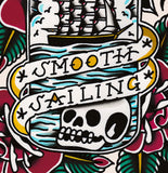 'Smooth Sailing' Digital print by Steen Jones printed by Few and Far Studio for Few and Far Co.