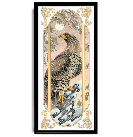 'Bartley Eagle' Fine Art Giclee print by Tom Bartley printed by Few and Far Studio for Few and Far Co.