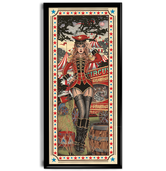 'Circus Girl' fine art giclee print by artist Tom Bartley printed by Few and Far Studio for Few and Far Co.