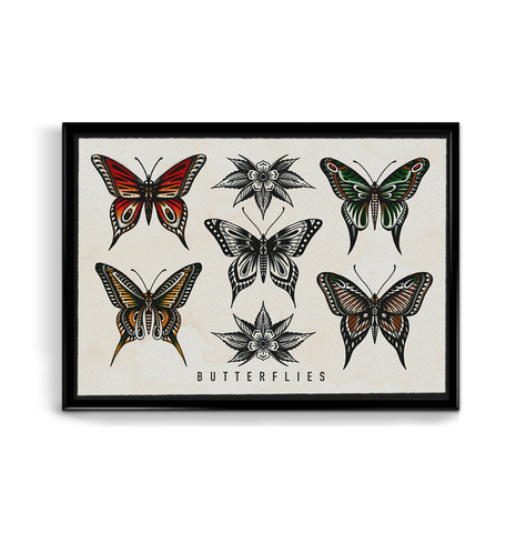 'Butterflies' Fine Art Giclee print by Tony Blue Arms printed by Few and Far Studio for Few and Far Co.
