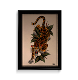 'Crawling Tiger' Fine Art Giclee print by Tony Blue Arms printed by Few and Far Studio for Few and Far Co.