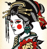 'Geisha' Digital print by Tony Blue Arms printed by Few and Far Studio for Few and Far Co.