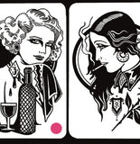 'Lovely Ladies' Digital print by Tony Blue Arms printed by Few and Far Studio for Few and Far Co.