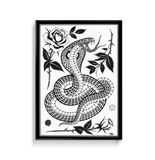 'Cobra 1' Fine Art Giclee print by Tony Blue Arms printed by Few and Far Studio for Few and Far Co.