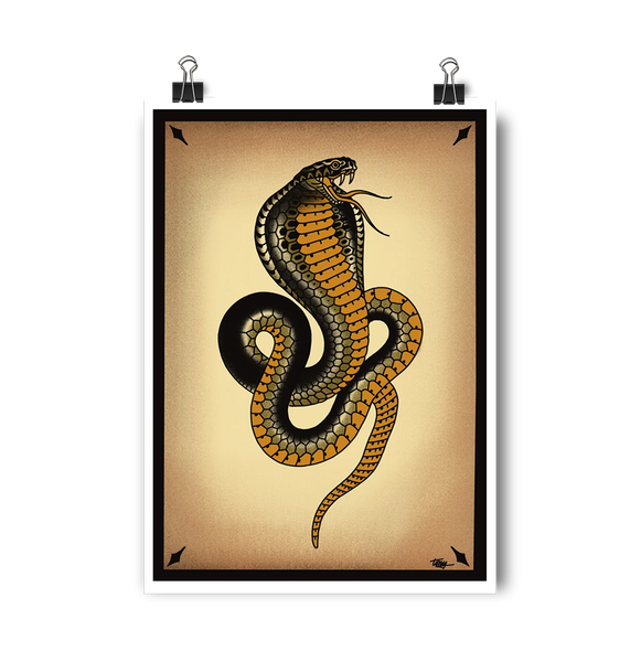 'Cobra 3' Digital print by Tony Blue Arms printed by Few and Far Studio for Few and Far Co.
