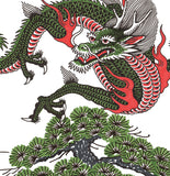 'Dragon 1' Fine Art Giclee print by Tony Blue Arms printed by Few and Far Studio for Few and Far Co.