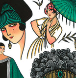 'Erte Deco' Fine Art Giclee print by Tony Blue Arms printed by Few and Far Studio for Few and Far Co.