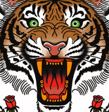 'Tiger' Digital print by Tony Blue Arms printed by Few and Far Studio for Few and Far Co.