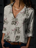 Casual Floral Printed Woman Shirt