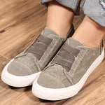Artificial Suede Flat Heel Casual Shoes