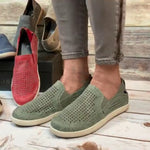 Hollow-Out Slip-On Loafers Sneakers Women
