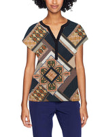 Printed Tribal Short Sleeve Casual T-Shirt