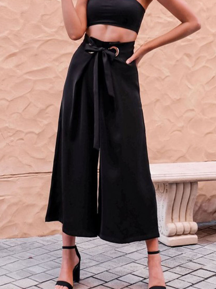 Strap straight wide-leg pants Sweet Pants