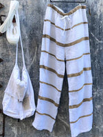 Simple Basic Cotton Linen Pants