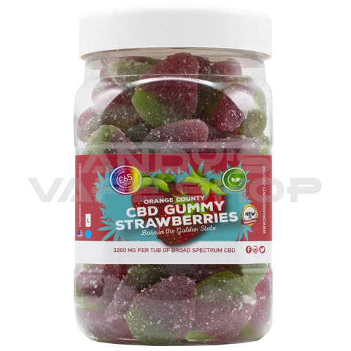 Orange County CBD Gummy Strawberries (Large)