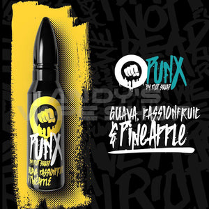 Riot Squad Punx Guava, Passion Fruit & Pineapple E Liquid 50ml Shortfill-E-Liquid-Riot Squad-Andy's Vape Shop