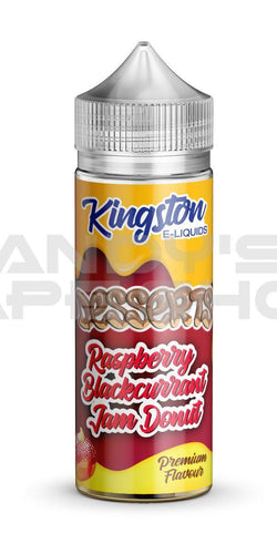 Kingston Raspberry Blackcurrant Jam Donut E Liquid 100ml Shortfill 0mg-E-Liquid-Kingston-Andy's Vape Shop