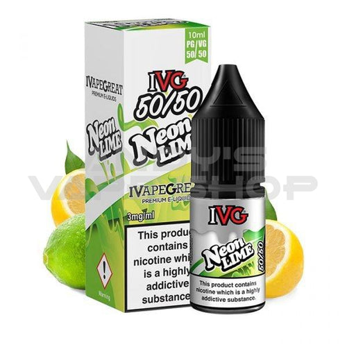 IVG 50:50 Neon Lime e-liquid 10ml