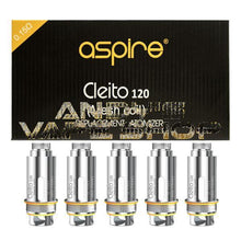 Load image into Gallery viewer, Aspire Cleito 120 Replacement Atomizer Coil Mesh 0.15 Ohm-Coils-Aspire-5 Pack-Andy's Vape Shop
