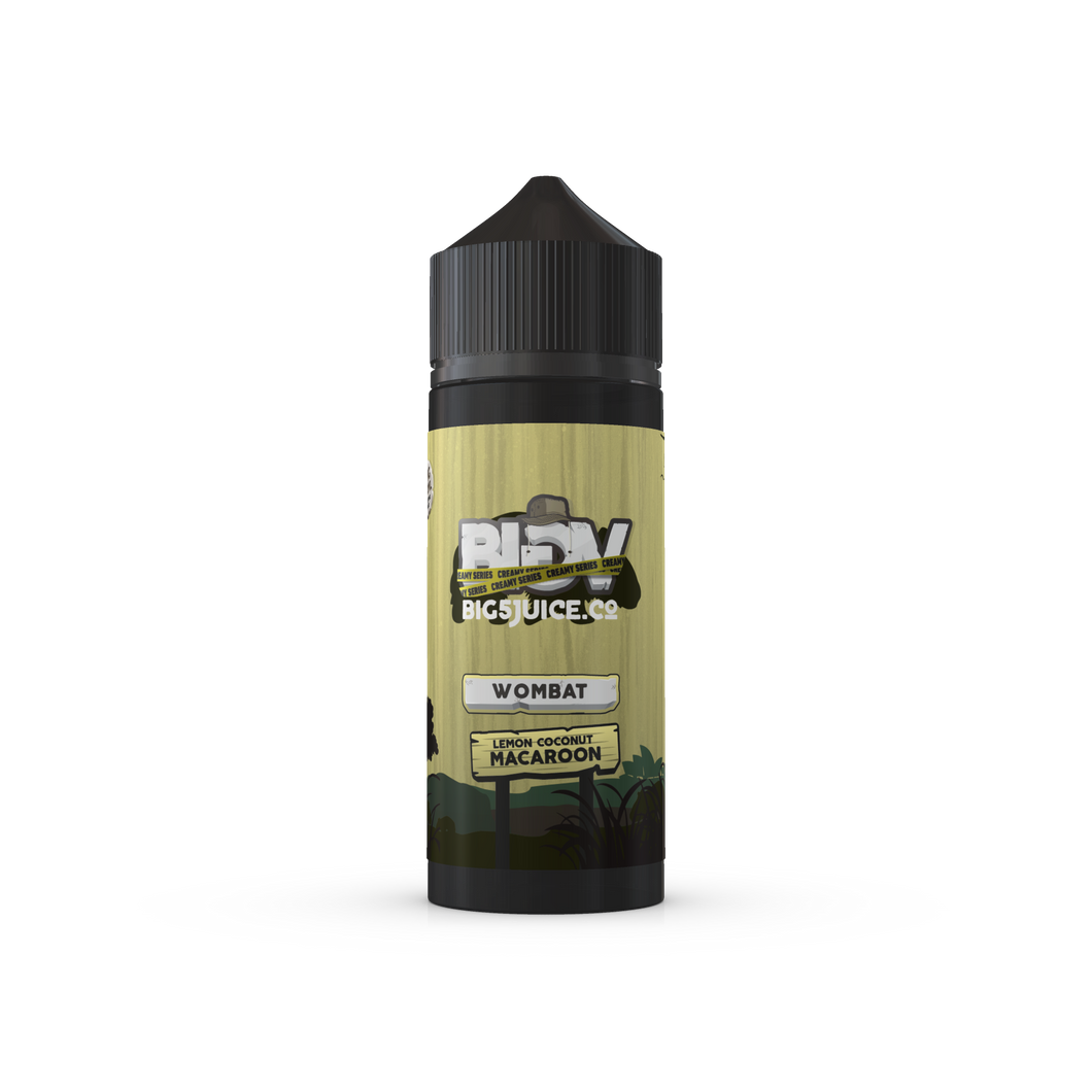 Big 5 Wombat E Liquid UK. Big 5 Juice Co UK Stockist best prices.  Lemon Coconut Macaroon flavoured E Liquid.