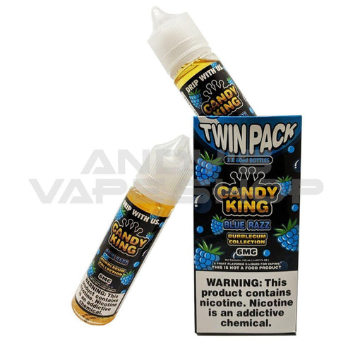 Candy King Twin Pack Bubblegum Collection - Blue Razz 0mg 2x 50ml Shortfill-E-Liquid-Candy king-Andy's Vape Shop