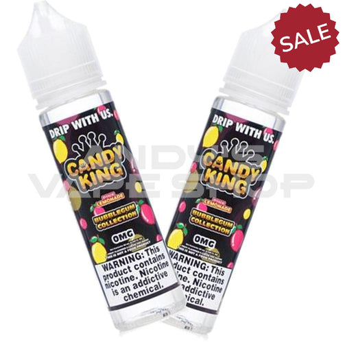 Candy King Twin Pack Bubblegum Collection - Pink Lemonade 2x 50ml Shortfill-E-Liquid-Candy king-Andy's Vape Shop