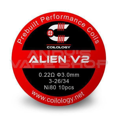 Coilology Alien V2 Coil 0.22Ohm-Coils-Coilology-Andy's Vape Shop