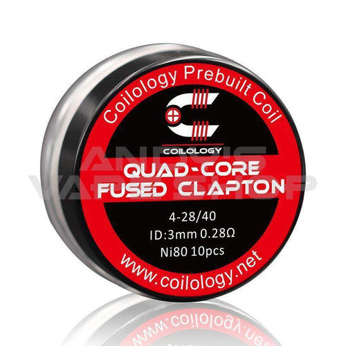 Coilology Quad Core Fused Clapton Pre-made Coil 10pcs-Coils-Coilology-Andy's Vape Shop