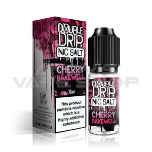 Double Drip Cherry Bakewell Nic Salt 20mg-E-Liquid-Double Drip-Andy's Vape Shop