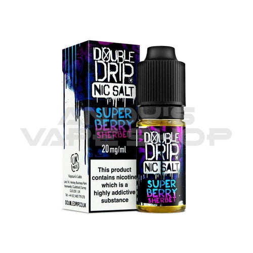 Double Drip Super Berry Sherbet Nic Salt 20mg-E-Liquid-Double Drip-Andy's Vape Shop