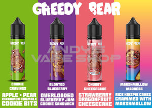 Greedy Bear Bloated Blueberry E Liquid 50ml Shortfill-E-Liquid-Greedy Bear-Andy's Vape Shop