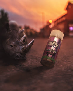 Big V E Liquid UK Rhino, Cherry Plum Sherbert flavoured Vape Juice. Big 5 Juice Co UK Stockist best prices