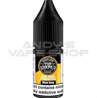 Top Vape 50:50 by IVG Golden Tobacco e liquid 10ml-E-Liquid-Top Vape-Andy's Vape Shop