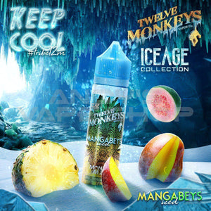 Twelve Monkeys Mangabeys Iced E Liquid Ice Age Series 50ml-E-Liquid-Twelve Monkeys-Andy's Vape Shop
