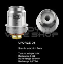Load image into Gallery viewer, VooPoo UForce D4 Replacement Vape Coils-Coils-VooPoo-Andy's Vape Shop