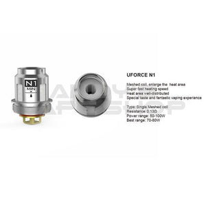 VooPoo UForce N1 Mesh Replacement Vape Coils-Coils-VooPoo-Andy's Vape Shop