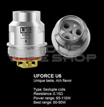 Load image into Gallery viewer, VooPoo UForce U6 Replacement Vape Coils-Coils-VooPoo-Andy's Vape Shop