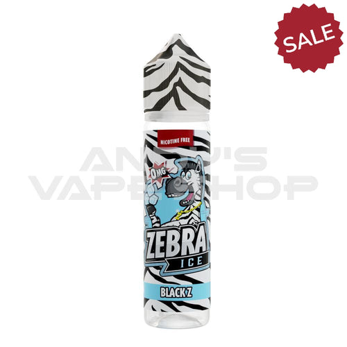Zebra Ice - Black Z 50ml Shortfill 0mg-E-Liquid-Zebra Juice-Andy's Vape Shop