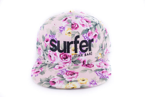 Surfer Floral Hat- Light Pink