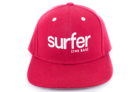 SURFER the bar Snap back- Red