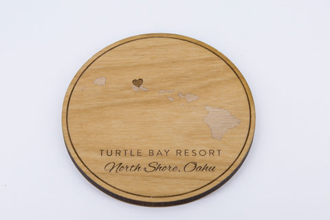 Wooden drink coaster