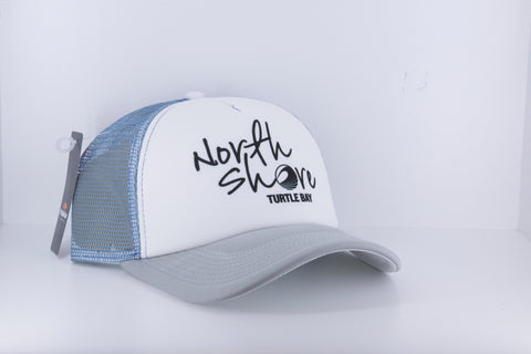 Pukka - North Shore Logo Hat - White / Gray / Faded Blue